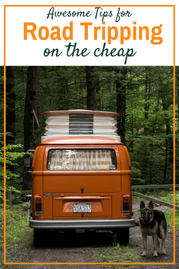 You can afford to take that cross country road trip! Road trip planning to save money.