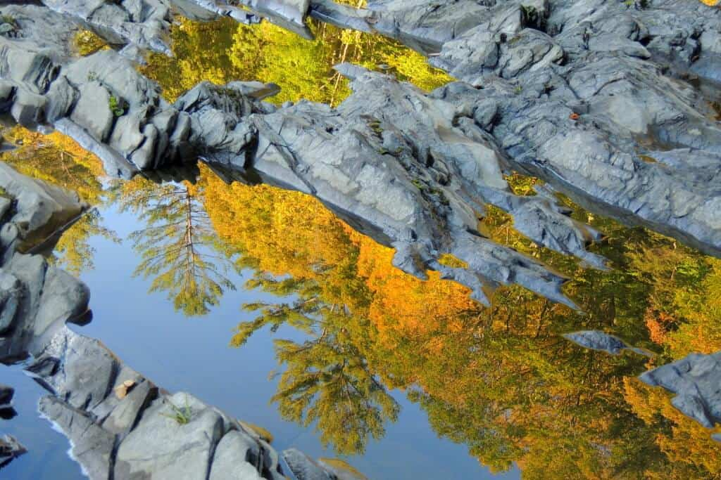 Early morning reflections in Quechee Gorge
