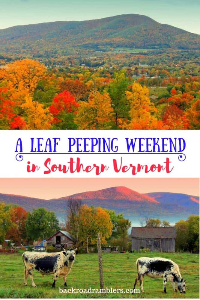 A collage of photographs featuring autumn in southern Vermont