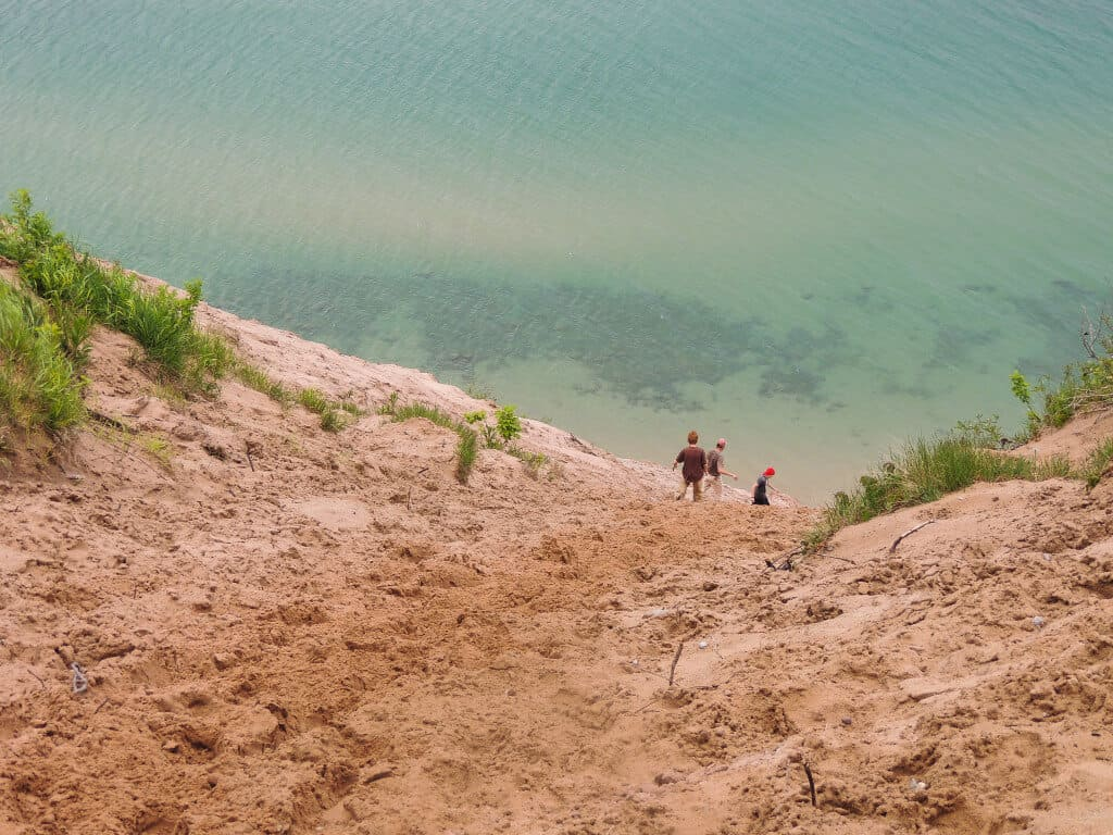 A giant sand dune on Lake superior