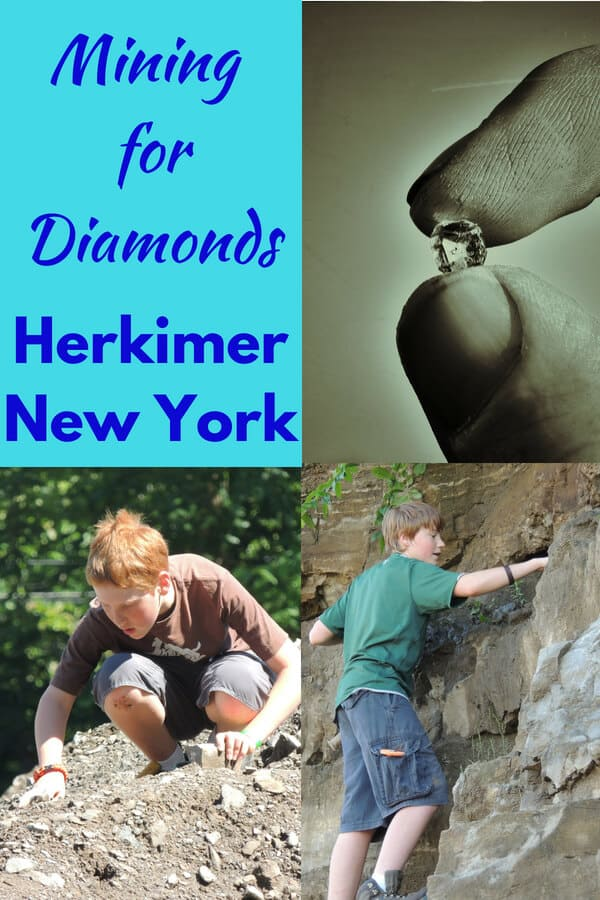 Kids hunting for Herkimer diamonds.