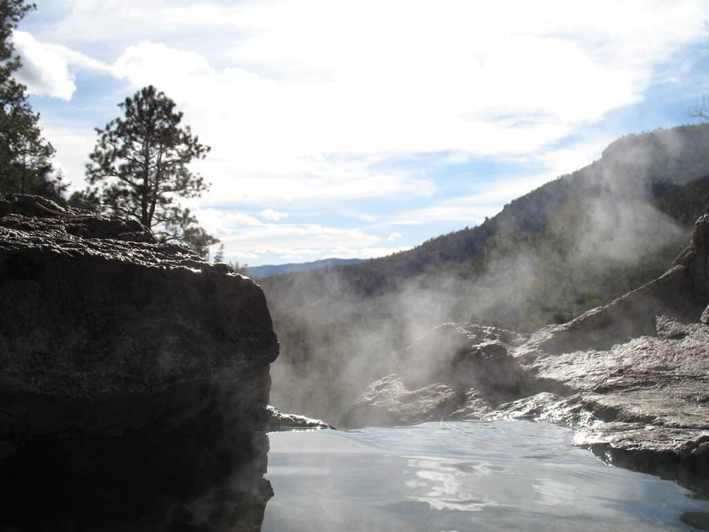 Spence Hot Springs, NM - secret hot springs for winter bliss