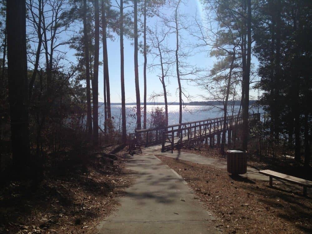 A winter view of Jordan Lake in Raleigh, NC