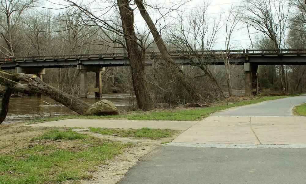 A bridge spanning the Neuse River in Raleigh, NC