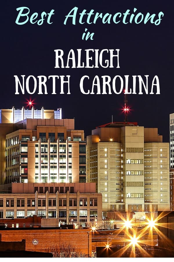 A night scape of Raleigh, NC