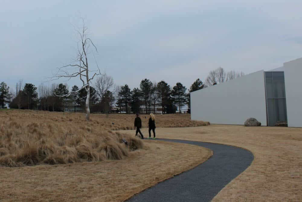 A sculpture in Museum Park at the North Carolina Museum of Art