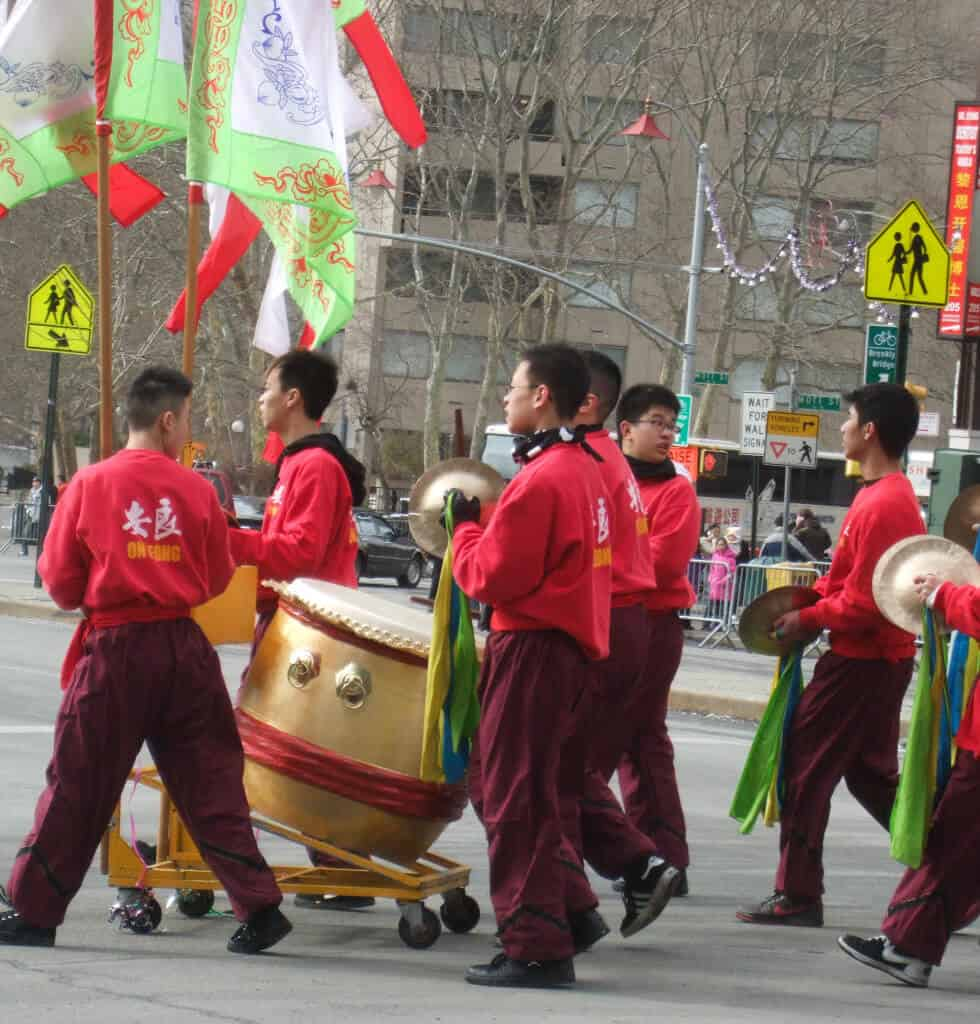 A Chinese New Year parade in New York City.