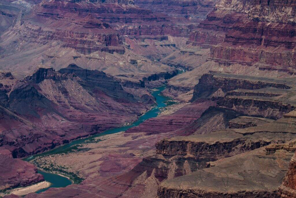 Colorado River from the Desert View Campground, Grand Canyon