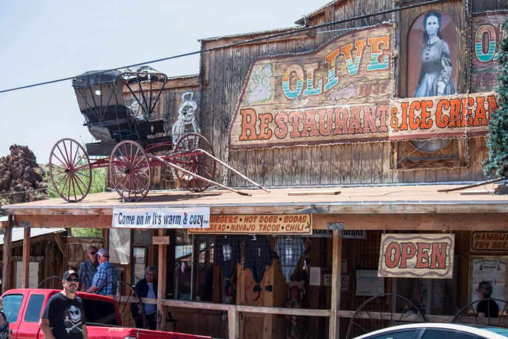 Olive Restaurant and Ice Cream Shop in Oatman, AZ