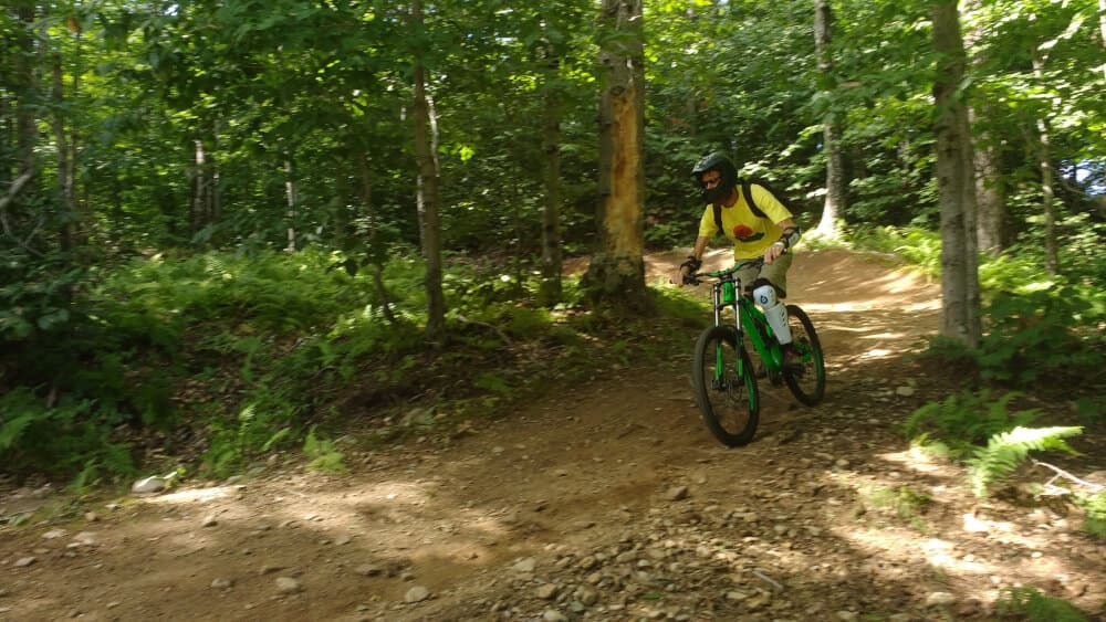 Riding the trails at Mount Snow