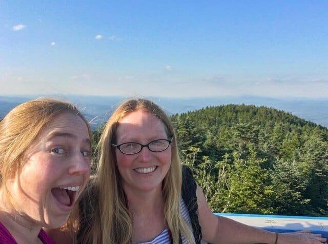A Mt Ascutney selfie in Vermont.
