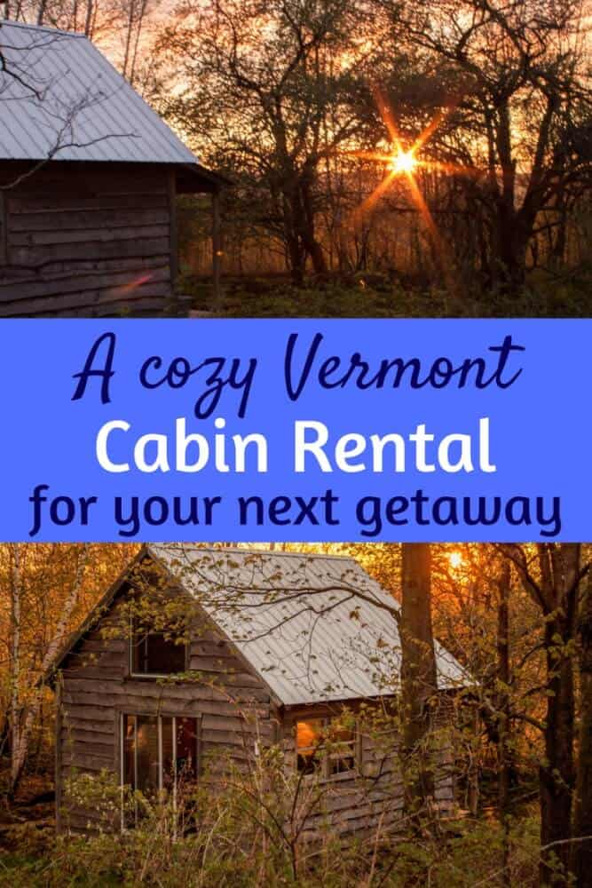 Have you ever camped out in a cabin on a Vermont farm? This little Vermont cabin rental will make you swoon! #camping #Vermont #cabins