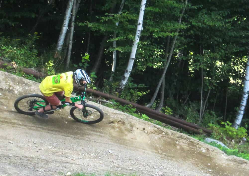 Riding the trails at Mount Snow in Southern Vemront