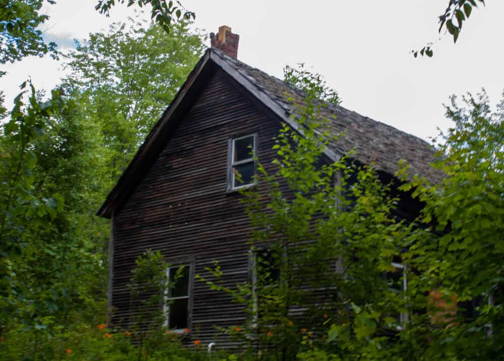An old house hidden in the woods at Little River State Park.
