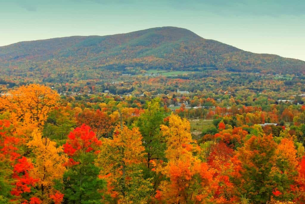 Mount Anthony in Bennington, VT during the fall.