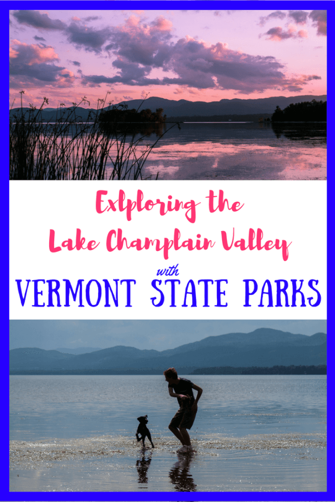 Two views of Lake Champlain from Button Bay State Park