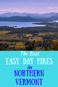 A view of Lake Champlain from the top of Mt. Philo in Vermont. Caption reads: The best easy day hikes in northern Vermont.
