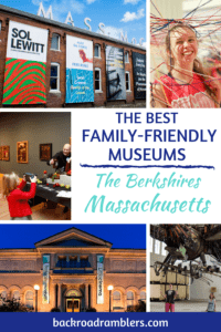 A collage of photos from museums in the Berkshires