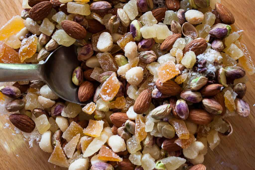 trail mix for camping, part of a weekend camping menu