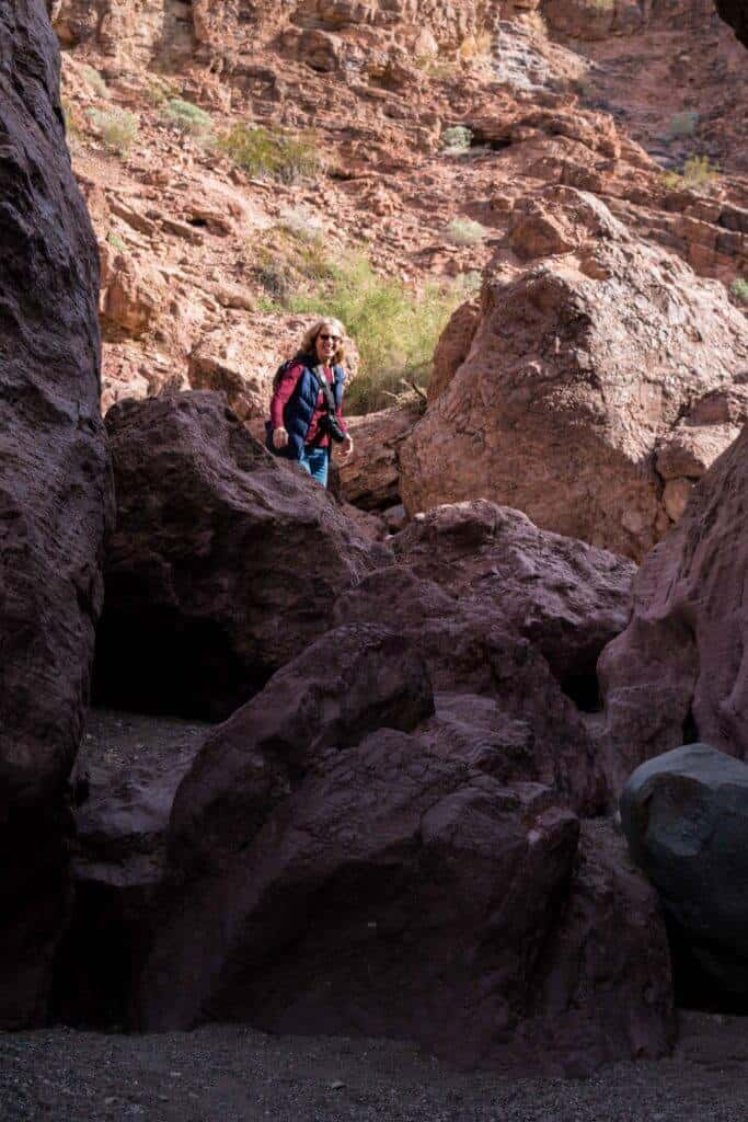 Hiking the Crack in the Wall in SARA Park, Lake Havasu City