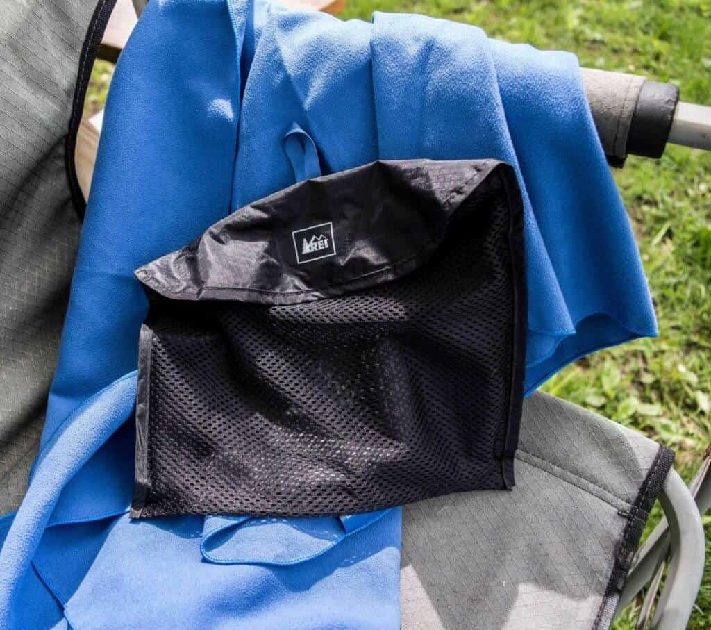 The REI multi towel. Road trip essentials
