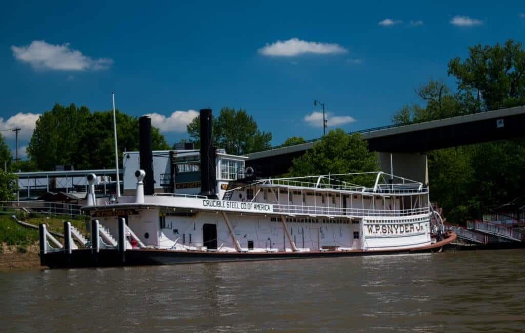 W.P. Snyder Jr. on the river in Marietta, Ohio