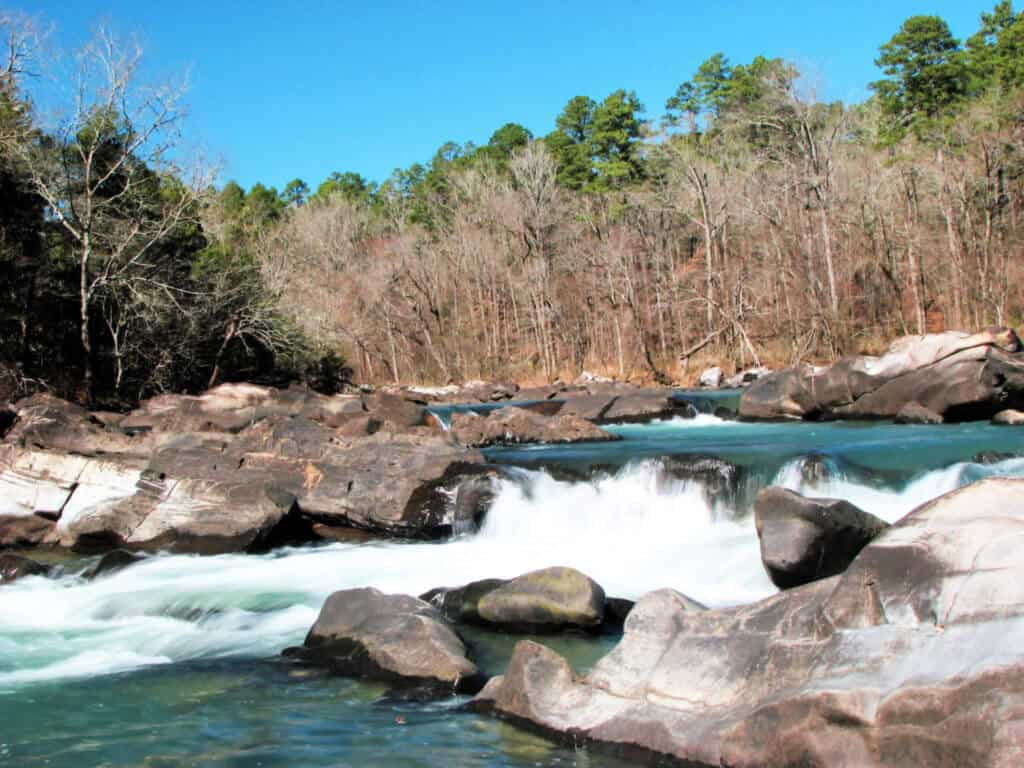 Camping in the United States - Cossatot Reefs Campground Arkansas