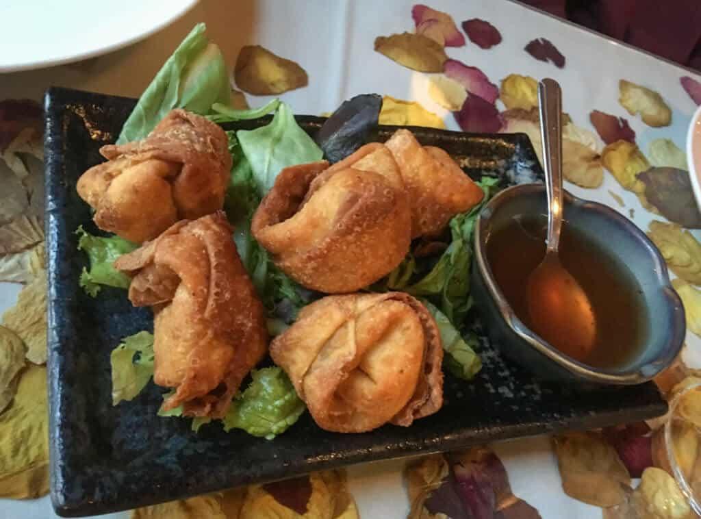 Fried thai dumplings in Port Townsend