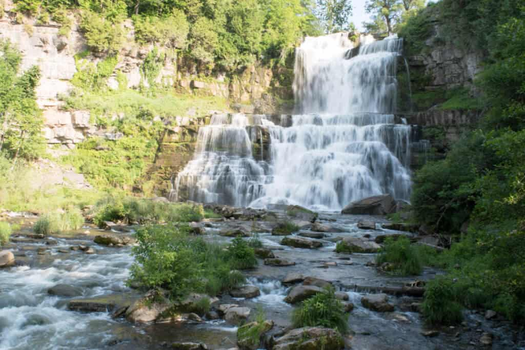 Chittenango Falls in the Finger Lakes Region of New York
