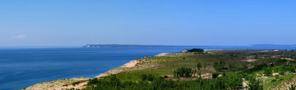 South Manitou Island on Lake Michigan from the mainland.