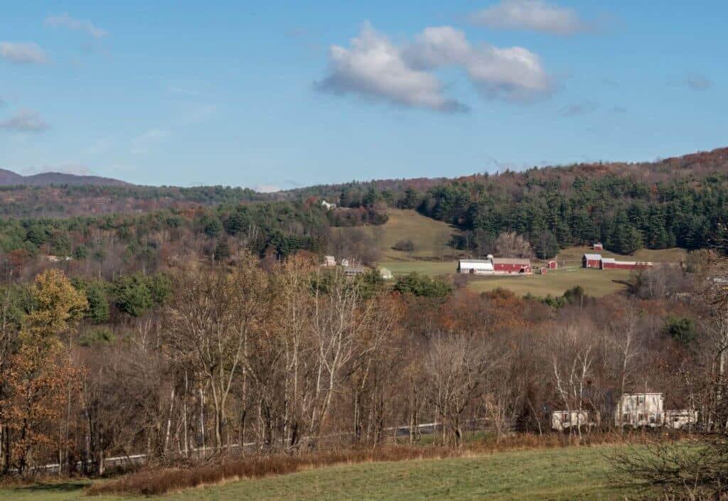Winter scene in Pownal, Vermont