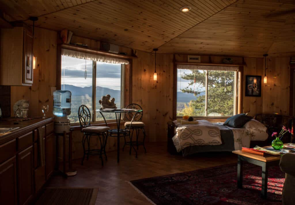 Adirondack Cabin Rental -interior shot
