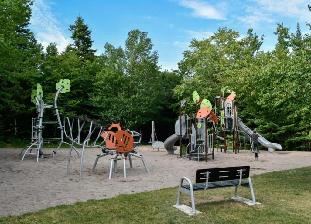 The playground in Chignecto Campground, Fundy National Park