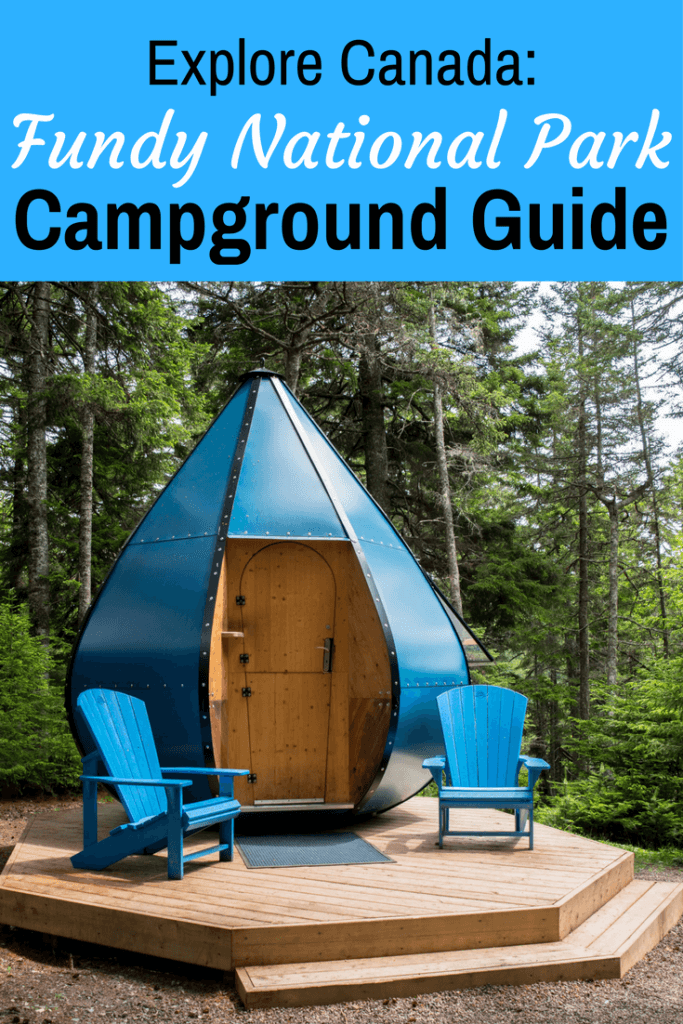 A special camping pod located in Point Wolfe Campground in Fundy National Park