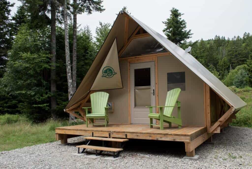 An oTENTik available for rent in Fundy National Park.