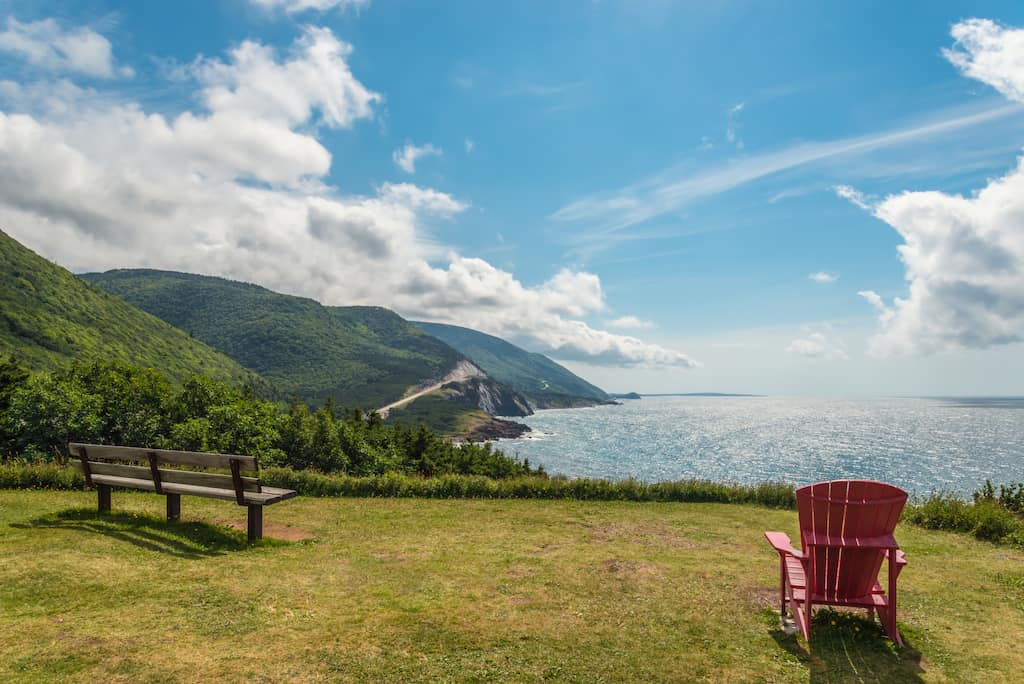 A peaceful overlook in Cape Breton Highlands National Park.