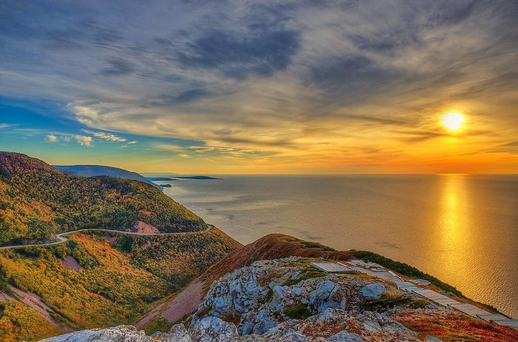 Sunset on the Skyline Trail in Cape Breton