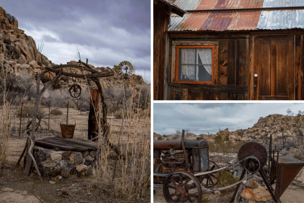 A collage of artifact photos from Keys Ranch in Joshua Tree National Park.