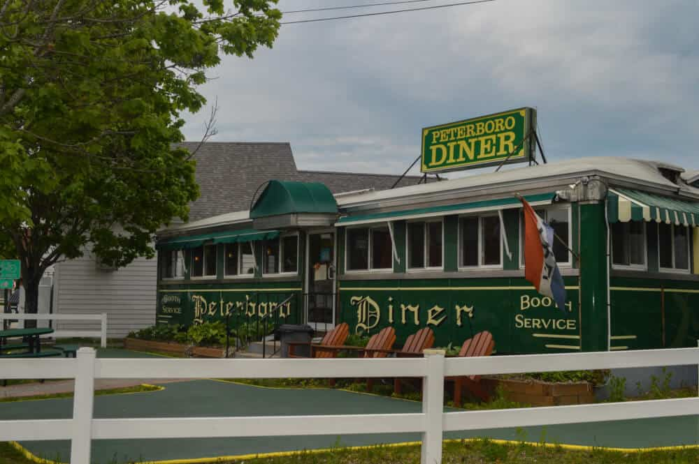 The outside of the Peterborough Diner in Peterborough, NH