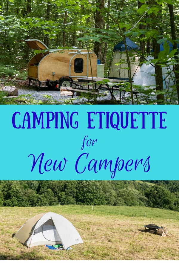 The basics of campground etiquette - a tent in a field of flowers