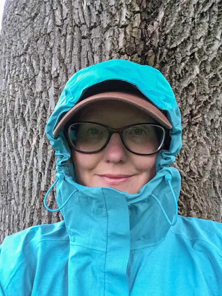 Head shot - Panorama Point rain jacket by Outdoor Research