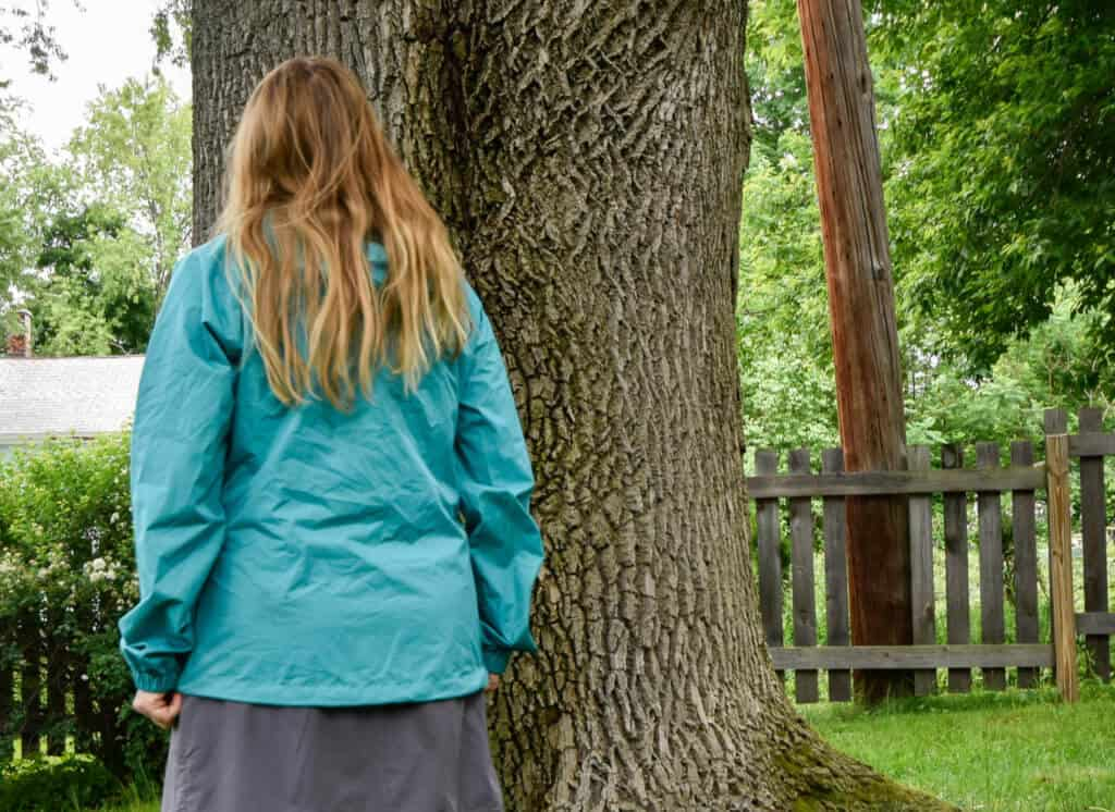 Me - back view of the Panorama Point Rain Jacket