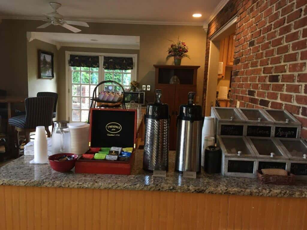 A selection of coffees and teas at the Hillwinds Inn in Blowing Rock, NC