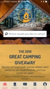 The Dyrt camping app