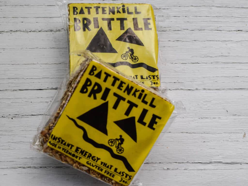 Two unopened packages of Battenkill Brittle