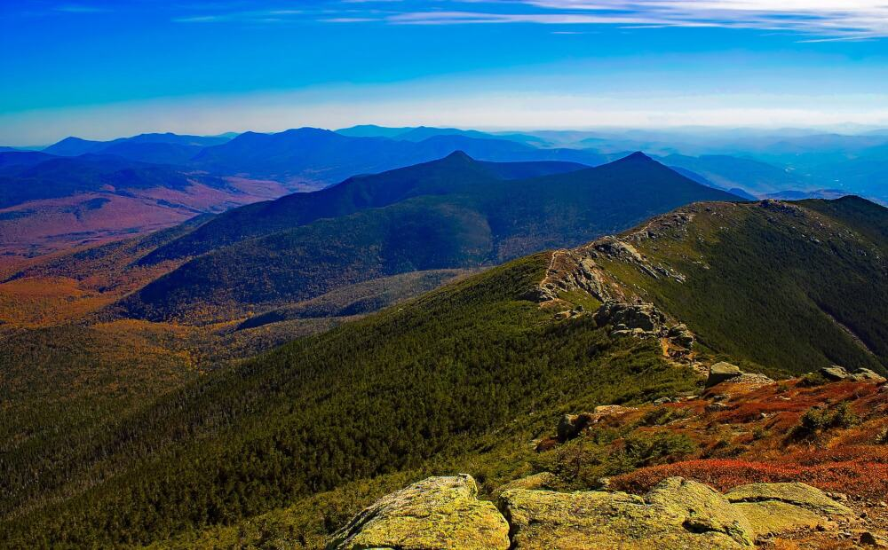A view of New Hampshire's White Mountains
