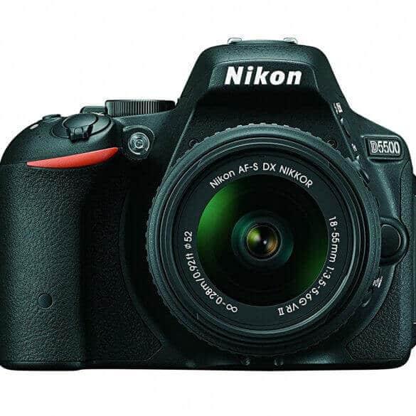 Nikon D5500 DX-format Digital SLR w/18-55mm VR II Kit (Black)