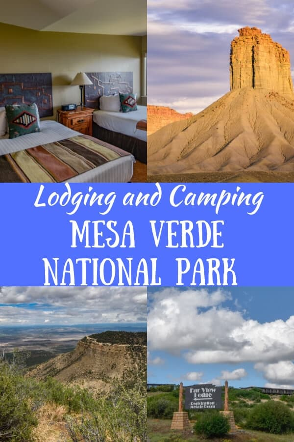 a photo collage of mesa verde national park, with the caption: Lodging and Camping in Mesa Verde National Park