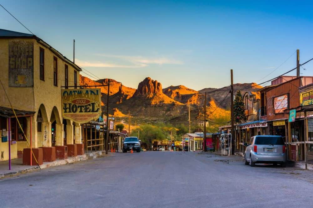 Main Street in Oatman, AZ