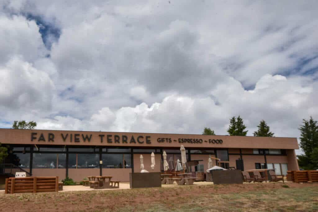 An outdoor view of Far View Terrace in Mesa Verde National Park